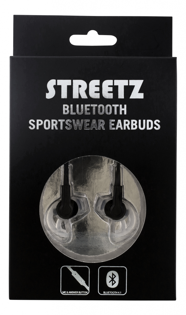 STREETZ Bluetooth-sporthörlurar, svart Image